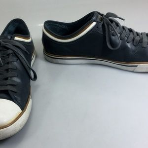 Penguin Gray Leather Sneakers Gym Shoes Mens 11